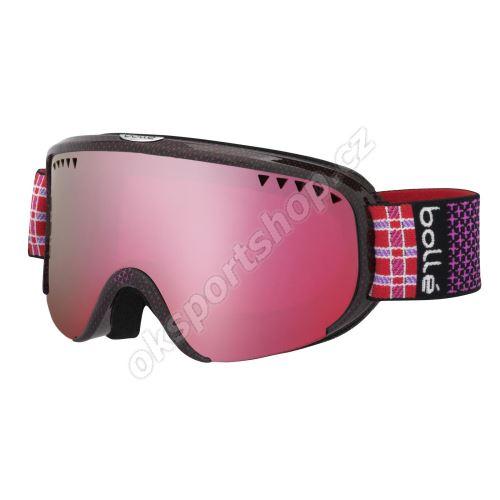 Lyžařské brýle Bollé Scarlett 21329 Shiny Pink Plaid Vermillon Gun