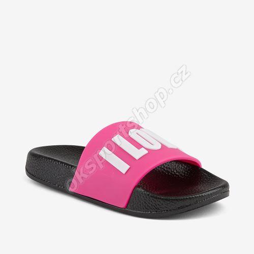 Pantofle Coqui RUKI 6383 Black/fuchsia love