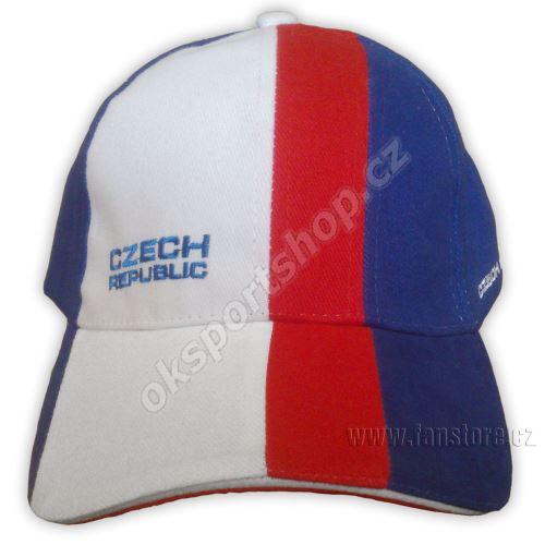 Kšiltovka Fan cap CZECH - pruhovaná