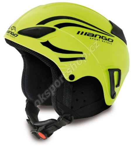 Lyžařská helma Mango Rocky žlutá fluo