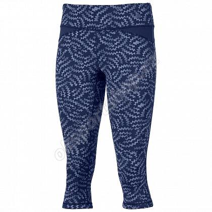 Kalhoty 3/4 Asics Reversible Capri Indigo Blue Print