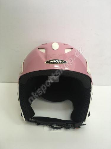 Lyžařská helma Mango Kino růžová 58-60