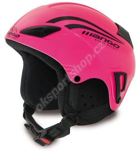 Lyžařská helma Mango Rocky růžová fluo
