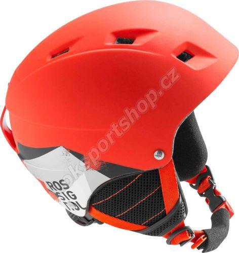 Lyžařská helma Rossignol Comp J Red-led